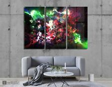 Wall Art Metal Electric Nebula Print Decor Ready to Hang