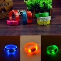 Control Concert Sound Activated LED Glow Wristbands Flash Bangle Bracelet