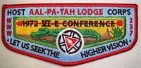 AAL PA TAH 237 PATCH 1972 NOAC 2015 OA 100TH CENTENNIAL HOST FLAP 120 MADE TOUGH
