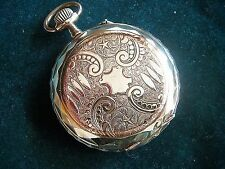 Antique ROSKOPF Remontoir Superieur Pocket Watch Hand Engraved Gold Plated SWISS