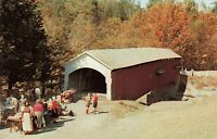 Postcard Narrows Covered Bridge Parke County Indiana