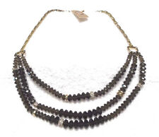 Fossil Gold and Brown Stone Necklace-Vintage Revival