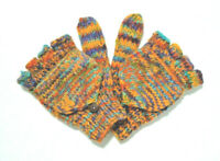 Fingerless Gloves - Mittens  Small Womens Size Made In Nepal Yaks Wool