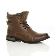 Scarpe da uomo stivali militari marrone