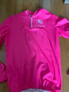 Giordana Long Sleeve Cool Weather Cycling Jersey Men's Size Medium 3- High Vis
