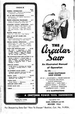 1954 Craftsman The Circular Saw - An Illustrated Manual of Operation