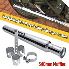 Chrome Motorcycle Exhaust Muffler Pipe + Reducer Cocktail Shaker Tulip Bell End
