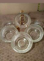 Set Of 6 Queen Mary Depression Glass Salad Bowls or use as dessert bowl