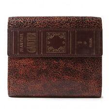 Jean-Paul GAULTIER Cracked Leather wallet(K-36131)