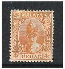 Malaya (Perak) - 1939, 4c Orange - L/M - SG 107