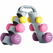 Gold Coast 12kg Dumbbell Hand Weights Set Weight Training Gym Fitness Workout