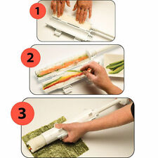 Perfect Sushi Roll Maker Kit Rice Rolle Tool Easy Use DIY Set USA