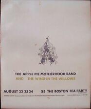 Apple Pie Motherhood Wind In The Willows Blondie Boston Tea Party concert poster