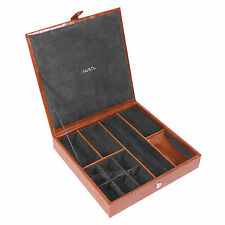 Mele Gents Desktop Jewellery Box Faux Leather Case Organiser Holder Gift For Men