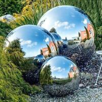 Steel Gazing Balls Silver Mirror Spheres Garden Outdoor Decor