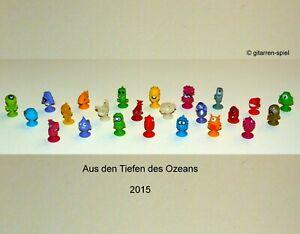 LIDL Stikeez Aus den Tiefen des Ozeans 24 Figuren Komplettset 1A Top! Zing ©2015