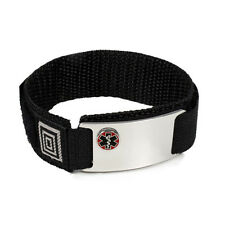 Sport Medical Alert ID Bracelet  Emblem with Raised Emblem. Free Card, engraving