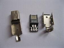 20 pcs Mini USB Plug Male Socket Connector 5 Pin Metal New