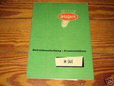 Betriebsanleitung Welger Mähdrescherpresse M 56 E