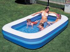 """103"""" grande rettangolare gonfiabile bambini piscina & Free POMPA ELETTRICA"""