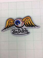 "Hot Rod Patch Flying Eyeball badge Von Dutch Drag Race Motorcycle Iron On 5x2.5"""