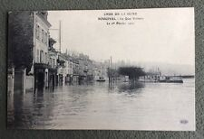 CPA. BOUGIVAL. 78 - Crue de la Seine. Le Quai Voltaire. Le 1er Février 1910.