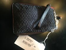 Maison Margiela Line 11 Black Leather Double Sided Wristlet