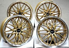 "18"" ALLOY WHEELS X 4 GOLD 190 FITS SAAB 9-3 9-5 93 95 9-3C JEEP COMPASS RENEGADE"