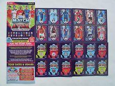 Sport Football MATCH ATTAX 2016-17 Promo SET 12 TRADING GAME CARDS + Card Binder