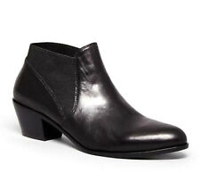 Via Spiga Women's Cleone Black Leather Slip-On Ankle Boots Size 8.5 M