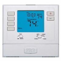 Thermostat,Heat Pump, PRO1 IAQ ,Auto-On T721-2 Heat 1 Cool-Non-Programmable-AC