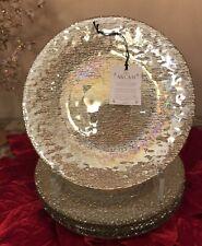 AKCAM Iridescent GOLD Glass SALAD Plates (SET OF 4) Hand-Made in Turkey