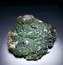 ***RARE-Green Duftite crystals on Fluorescent Calcite, Ojuela mine Mexico***