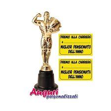Statuetta premio per la pensione pensionato,pensionata,pensionamento,