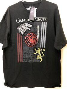 Game Of Thrones Mens XL T Shirt Black Short Sleeve