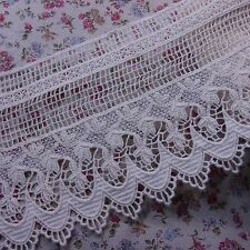 "Antique Style Embroidered Cotton Crochet Lace Trim 5.1""(13cm) Wide 1Yd"