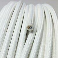 Textilkabel, Stoffkabel, Textilleitung,rund,weiß 2x0,75mm² H03VV-F