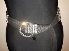 Statement belt by Star julian macdonald Diamante Black Perfect 12-16
