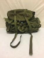 Vintage US Military Green Backpack - Army Surplus Olive Drab Fatigue