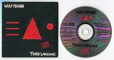 Wolf Maahn Maxi-CD Promo THIRD LANGUAGE © 1988 Cardsleeve 5-track + interviews