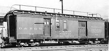 Hon3 D&Rgw #62 Railway Po & Express Baggage Car Kit, laser cut wood Mrgs #3052