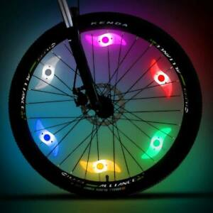 2 Bicycle Cycling Bike Wheel Spoke Wire Tyre Bright LED Flash Light Lamp