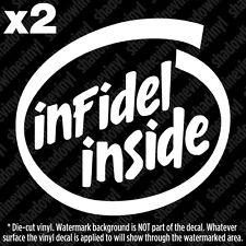 INFIDEL INSIDE Decal Sticker Patriot USA Pro Gun Rights 2nd Amendment NRA AR15