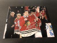 Eddie Olczyk Chicago Blackhawks Autographed Signed 8X10 Photo W/COA & Proof