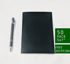 Bulk 50 Black Notebooks, 5 x 7 Inch, Journals, Sketchbook, Small Blank Journals