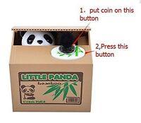 Automated Itazura Stealing Panda Coins Piggy Bank Money Saving Box Case Gift