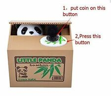 Automated Itazura Stealing Panda Coins Piggy Bank Money Saving Box Case Gift
