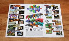 Nintendo 64 N64 Ad Flyer Mini Poster Super Smash Bros. Star Fox Donkey Kong GB