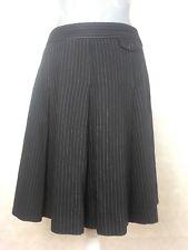 Whistles Pinstripe Pleated  Workwear Office Smart Skirt UK 10