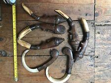 Vintage Tribal Dayak Shamans Boar Tusk Necklace